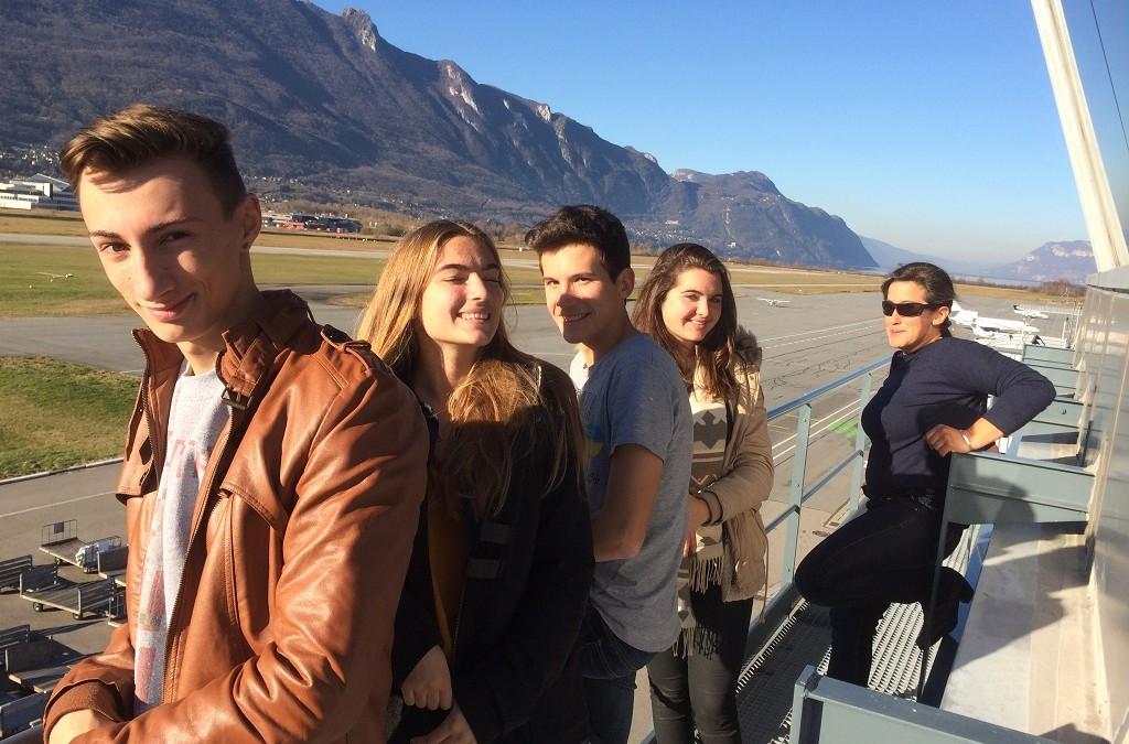 Visite de la tour de contrôle de l'aéroport de Chambéry-Aix
