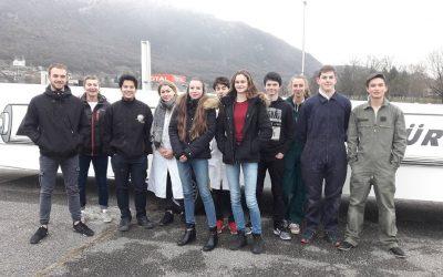 Des lycéennes du Lycée Marlioz d'Aix-Les-Bains
