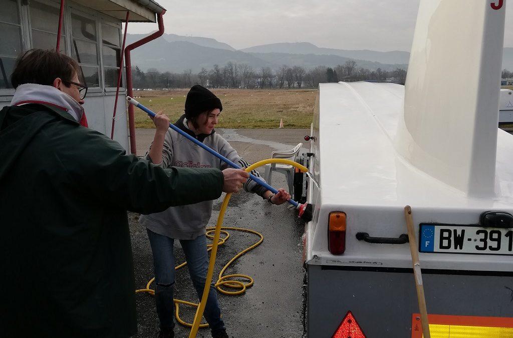 Préparation des remorques pour le stage de St Auban S10 et S11.