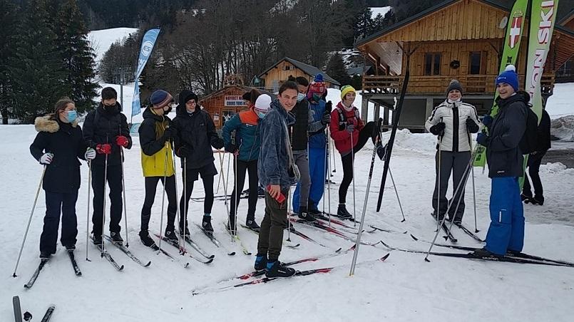 La section au ski de fond